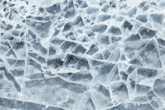 Background texture of blue broken ice Stock Photography