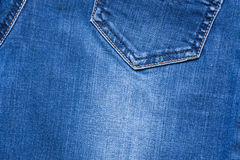Background And Texture Of Blue Jeans Fabric With Seams. Stock Photo