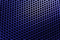 texture of blue lattice in backlight. royalty free stock photo