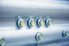 Background, texture, bolting metal. A Royalty Free Stock Photography