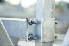 Background, texture, bolting metal. A Stock Photos
