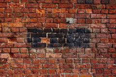 Background texture brick wall. Very old brick wall that gives you a great background Stock Photos