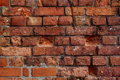 Background texture brick wall. Very old brick wall that gives you a great background texture pattern Royalty Free Stock Photo