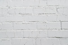 Background, texture brick wall, white color on the whole frame. Horizontal frame Royalty Free Stock Images