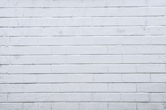 Background, texture brick wall, white color on the whole frame. Horizontal frame Royalty Free Stock Image