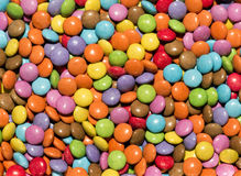 Background texture of brightly colored sweets Stock Images