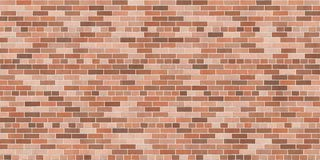 Background texture with brown brick wall. Common bond, wallpaper widescreen Royalty Free Stock Photos
