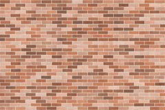 Background texture with brown brick wall. Stretcher bond, architecture detail Stock Photo