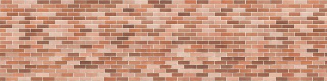 Background texture with brown brick wall. Stretcher bond, orizontal banner Stock Photography
