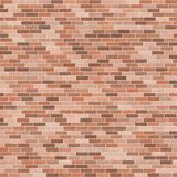 Background texture with brown brick wall. Stretcher bond, square format Stock Images