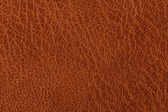 Background with texture of brown leather Stock Photography