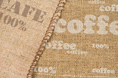 Background with texture of burlap Stock Photos