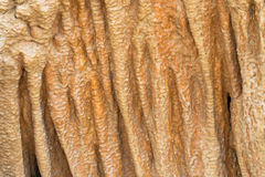 Background texture cave stone curtain photo of stalactite cavern Stock Photography