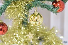 Background texture of Christmas tree decorations Stock Image