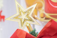Background texture of Christmas tree decorations Royalty Free Stock Photo