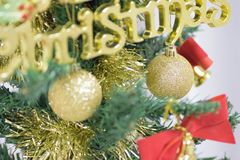 Background texture of Christmas tree decorations Royalty Free Stock Photography
