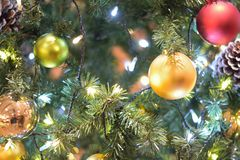 Background texture of Christmas tree decorations Royalty Free Stock Image