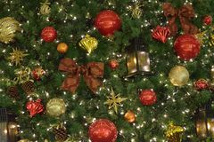 Background texture of Christmas tree decorations Stock Photos