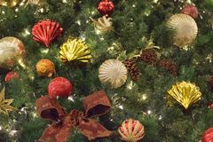 Background texture of Christmas tree decorations Stock Images