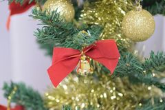Background texture of Christmas tree decorations Stock Photo