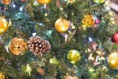 Background texture of Christmas tree decorations Royalty Free Stock Photos