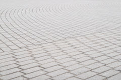 Background, texture of a city paving stone on the whole frame. Horizontal frame Stock Image