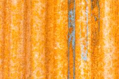 Background texture rusted corrugated metal Royalty Free Stock Photography