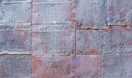 Background texture weathered tin squares. Background texture close up of weathered tin squares Stock Images