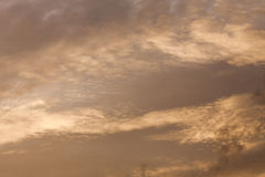 Background Texture of Clouds and Blue sky sunset light. Stock Images