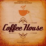 Background with texture for coffee house. Vector background with texture for coffee house Royalty Free Stock Photography