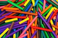 Background Texture - Color Wax Crayons, random pattern abstract. Stock Image