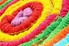 A background or texture of colorful fabric Stock Image