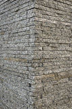 Background texture of the corner granite stone brick wall Royalty Free Stock Photos