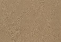 Background. texture of crumpled brown wrapping paper technical to creative design background. deformed Kraft. Royalty Free Stock Photo