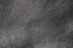Background, texture of dark grey, gray leather. Close-up of dark grey bag, gray leather. Useful as background or texture stock photos