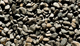 Background texture of dark smooth pebbles Stock Image
