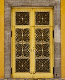 Background/Texture - decorative golden door. A background/texture of a decorative golden door Stock Images