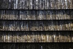 Detail of the old shingle roof. Background or texture detail of the old shingle roof Royalty Free Stock Photos
