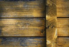Detail old wooden cabin. Background or texture detail old wooden cabin Royalty Free Stock Photos