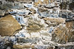 Detail of a stone old wall royalty free stock photo