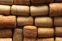 Background texture with different wine corks Stock Photography