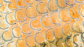 Background texture distressed metal with circle pattern Stock Images