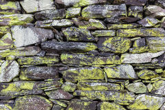 Background texture of a drystone wall Royalty Free Stock Images