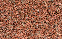 Background texture of expanded clay pellets Stock Photo