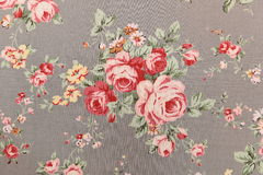 Background texture fabric floral pattern Royalty Free Stock Photo