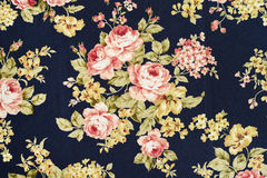 Background texture fabric floral pattern Stock Photography