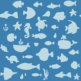 Background and texture with the fishes Stock Image