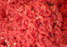 Background texture of fresh chopped meat Stock Photo