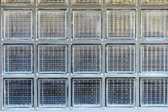 Background texture of glass blocks in a wall stock photography