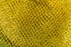 The background, texture of gold plastic mesh Stock Image